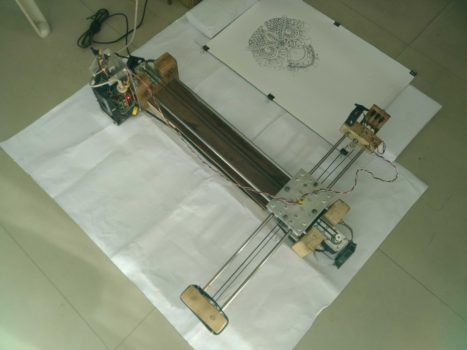 Crazy Engineer's Drawing Robot / Arduino GRBL CoreXY Servo Drawbot