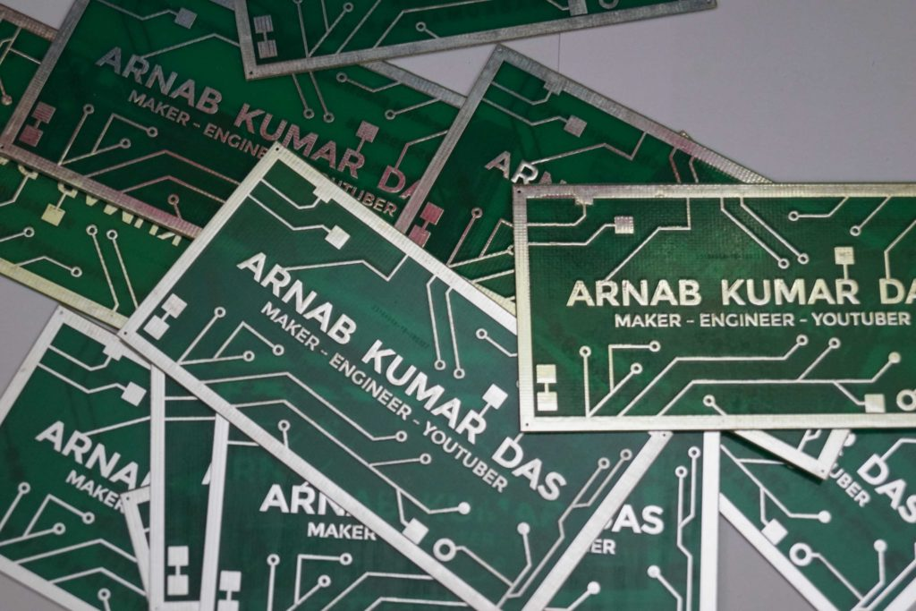 PCB Business Card of Arnab Kumar Das