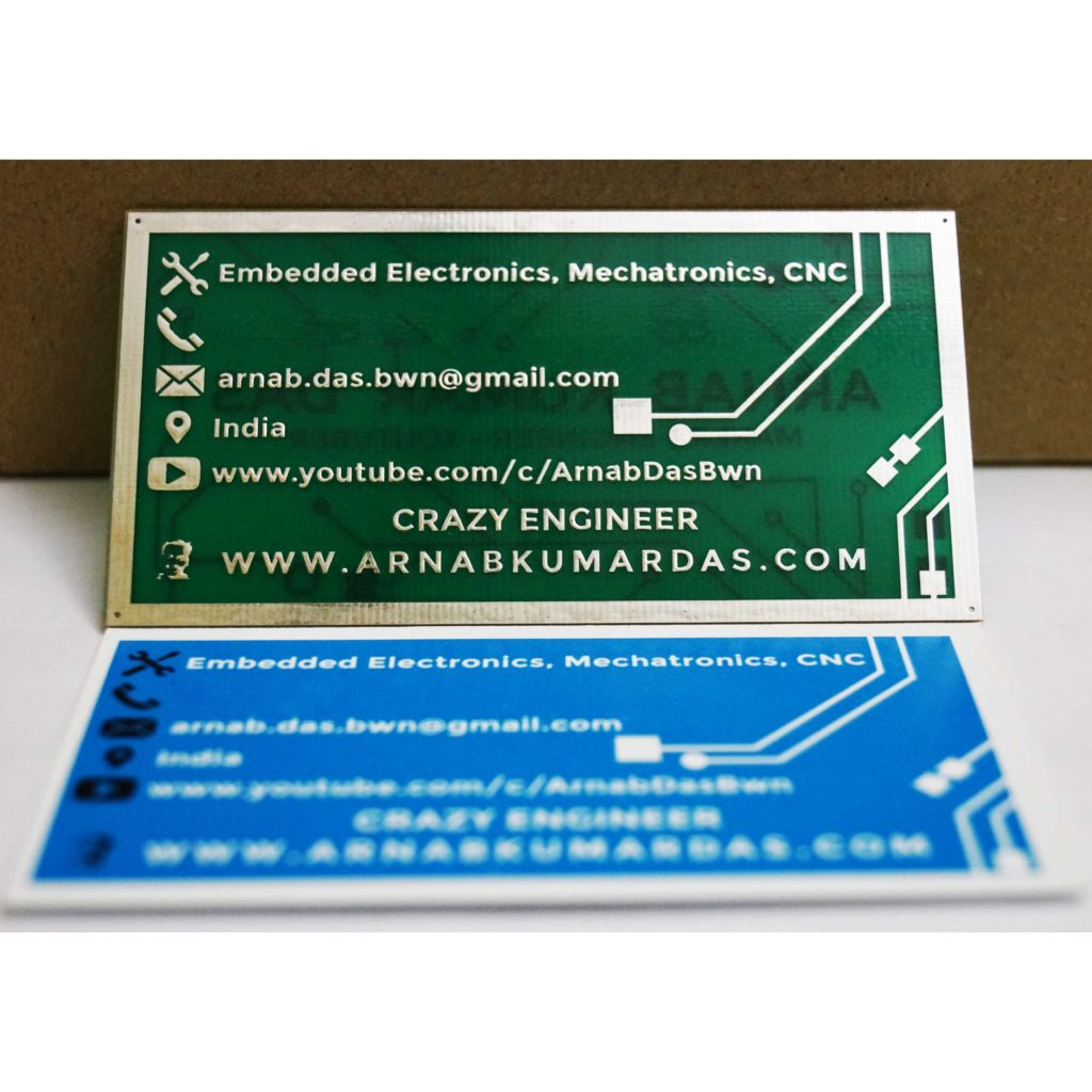 Crazy Engineer's PCB Business Card With the Paper Version