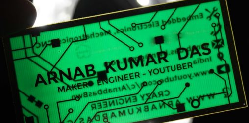 Crazy Engineer's PCB Business Card | Electrical / Electronics Engineer's Printed Circuit Board Business Card