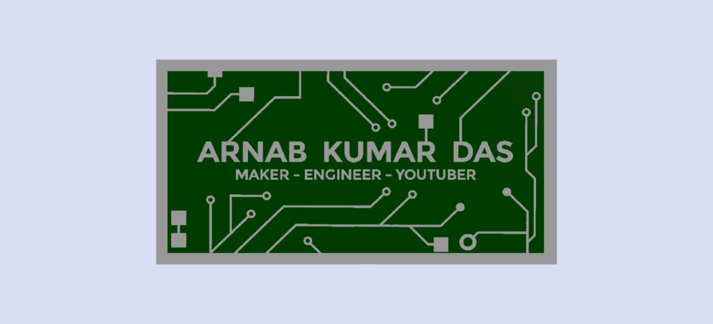 Render of PCB Business Card Top