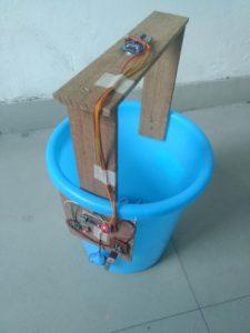 Side View of IOT Smart Dustbin