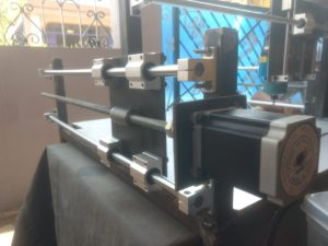 X Axis with Linear Guide & Motor of DIY CNC Router