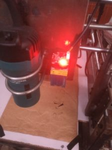 Laser Cutting in Progress on DIY CNC Router