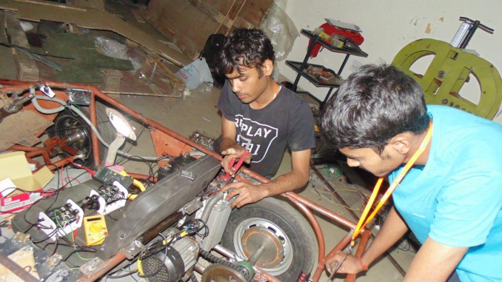 Solar Go-Kart Team Working