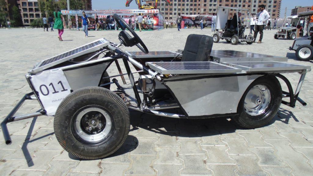 Solar Go-Kart Charging Under Solar Power