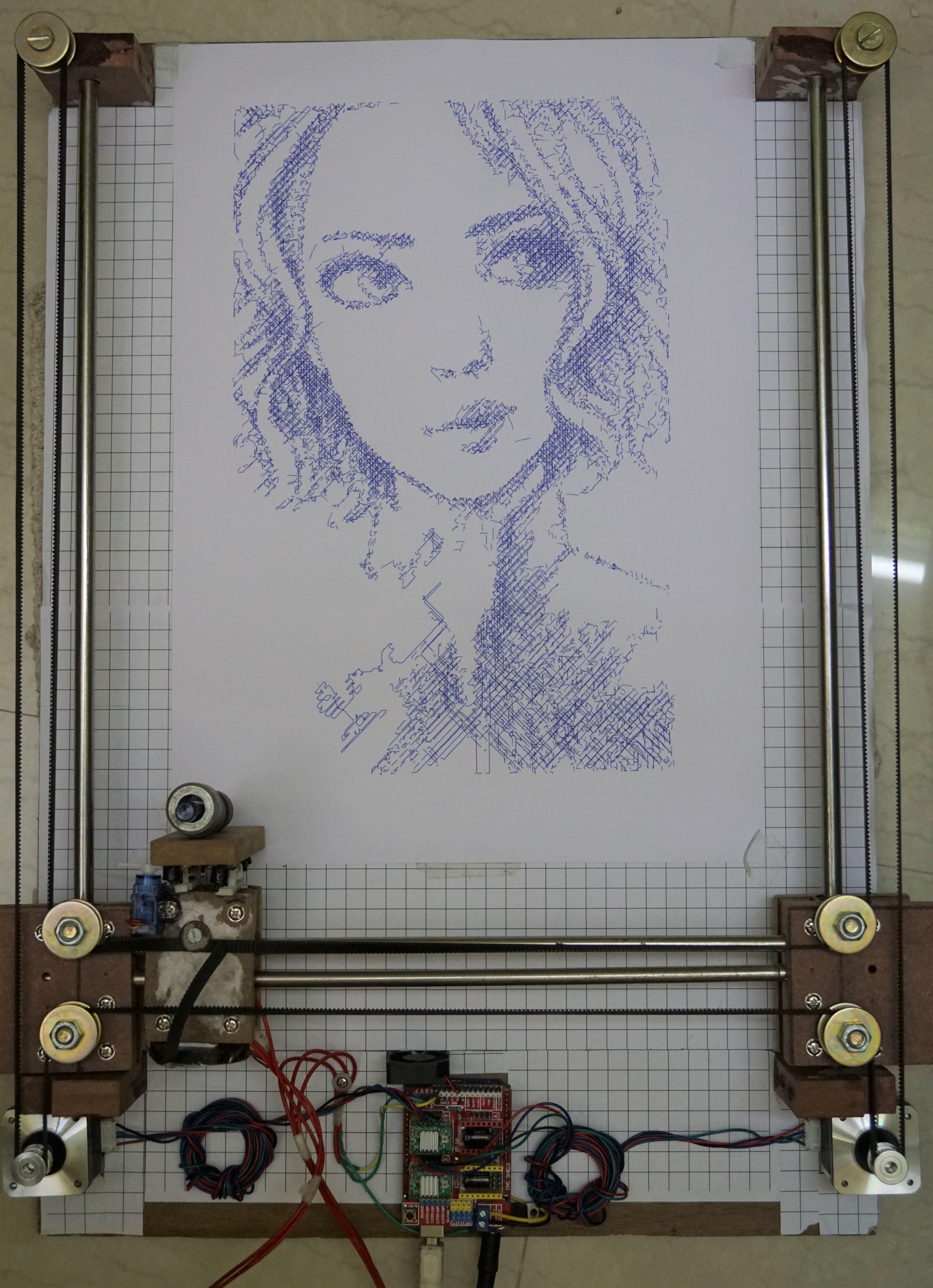 Arduino Drawing Machine Working