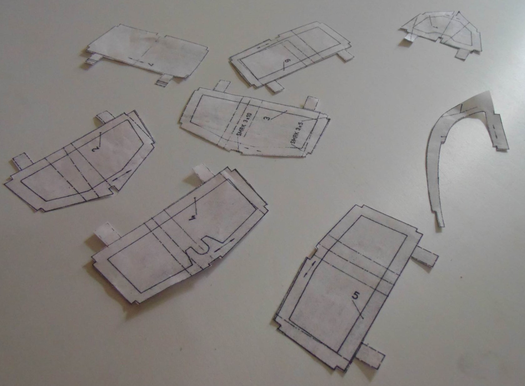 Printed Templates from Remote Control Boat PDF Plan