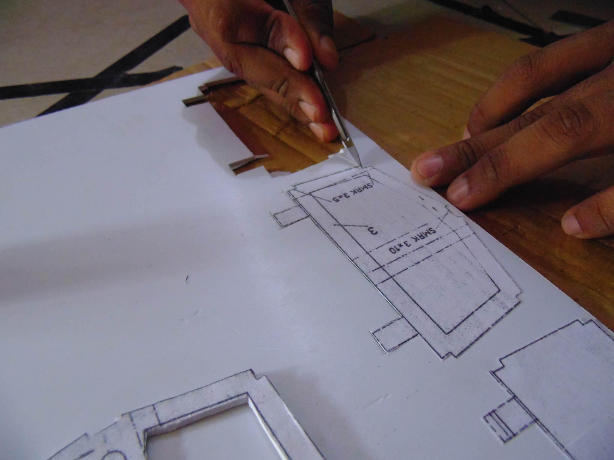 Cutting Sun Board or PVC Board using X-Acto Knife