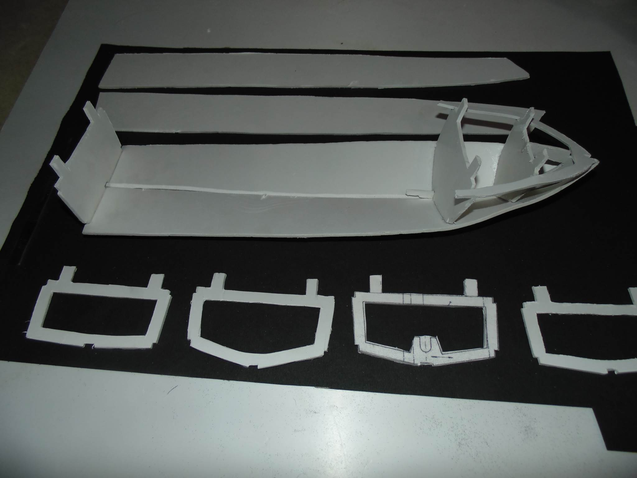 Joining Parts to Make a Remote Control Boat using PVC Sheet