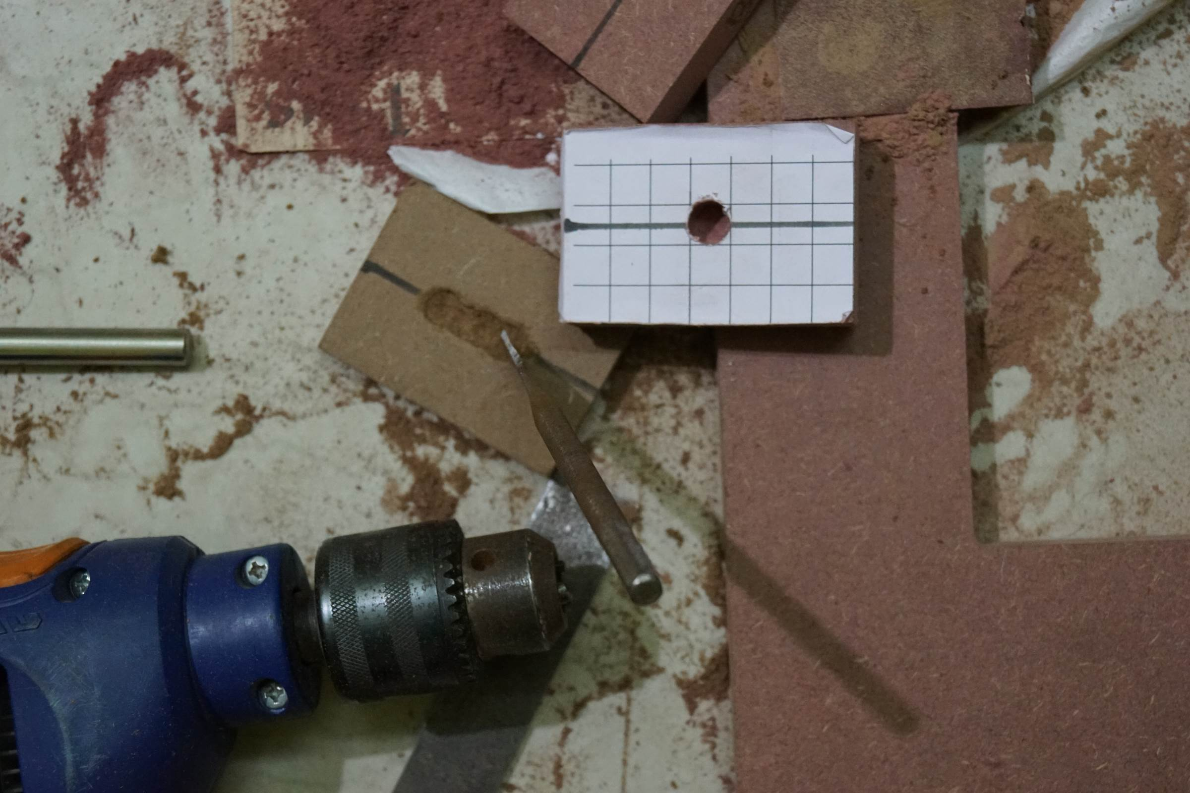 10mm Drilling on MDF Pieces