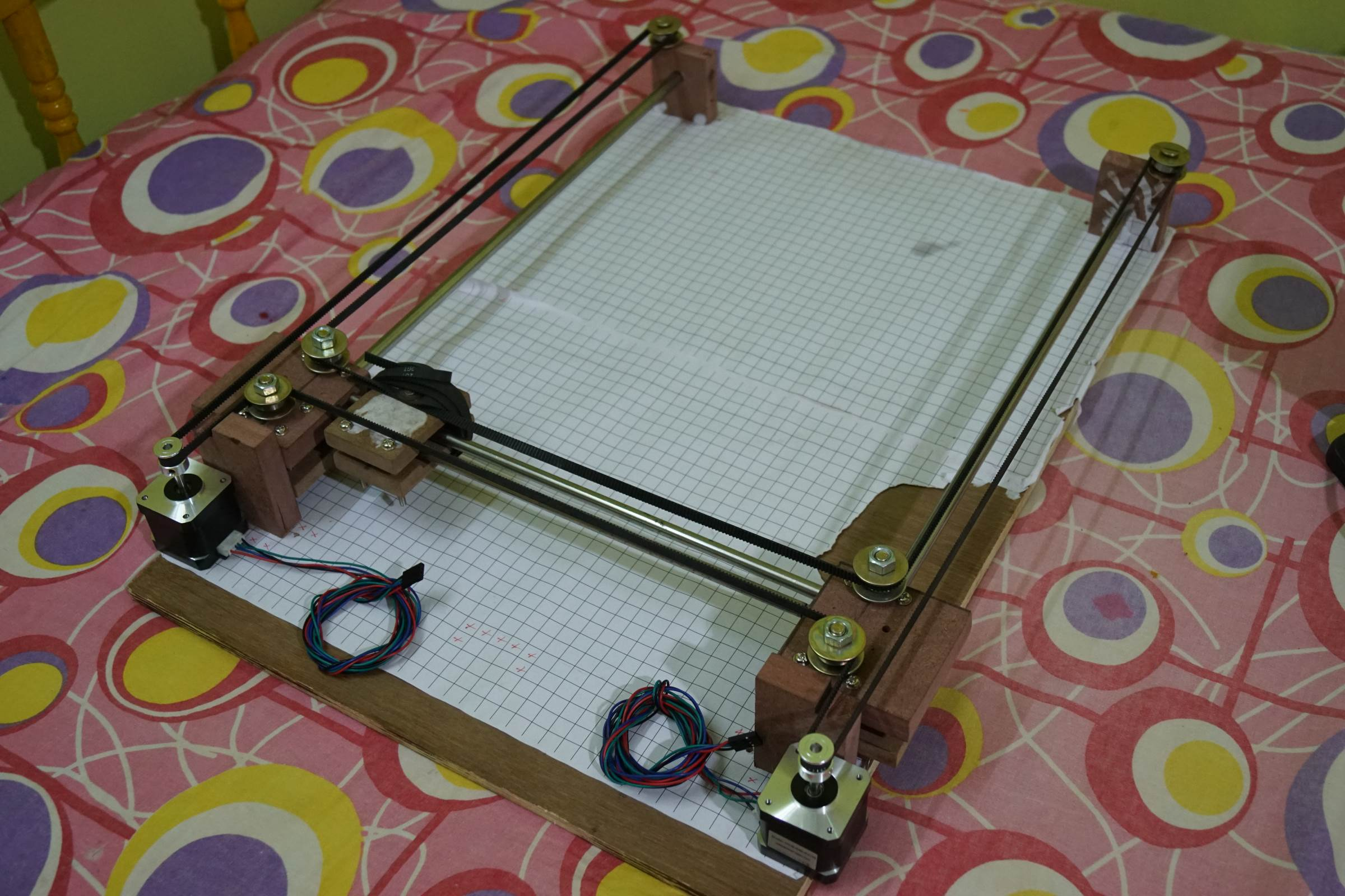 Belt Assembly of Arduino Drawing Robot