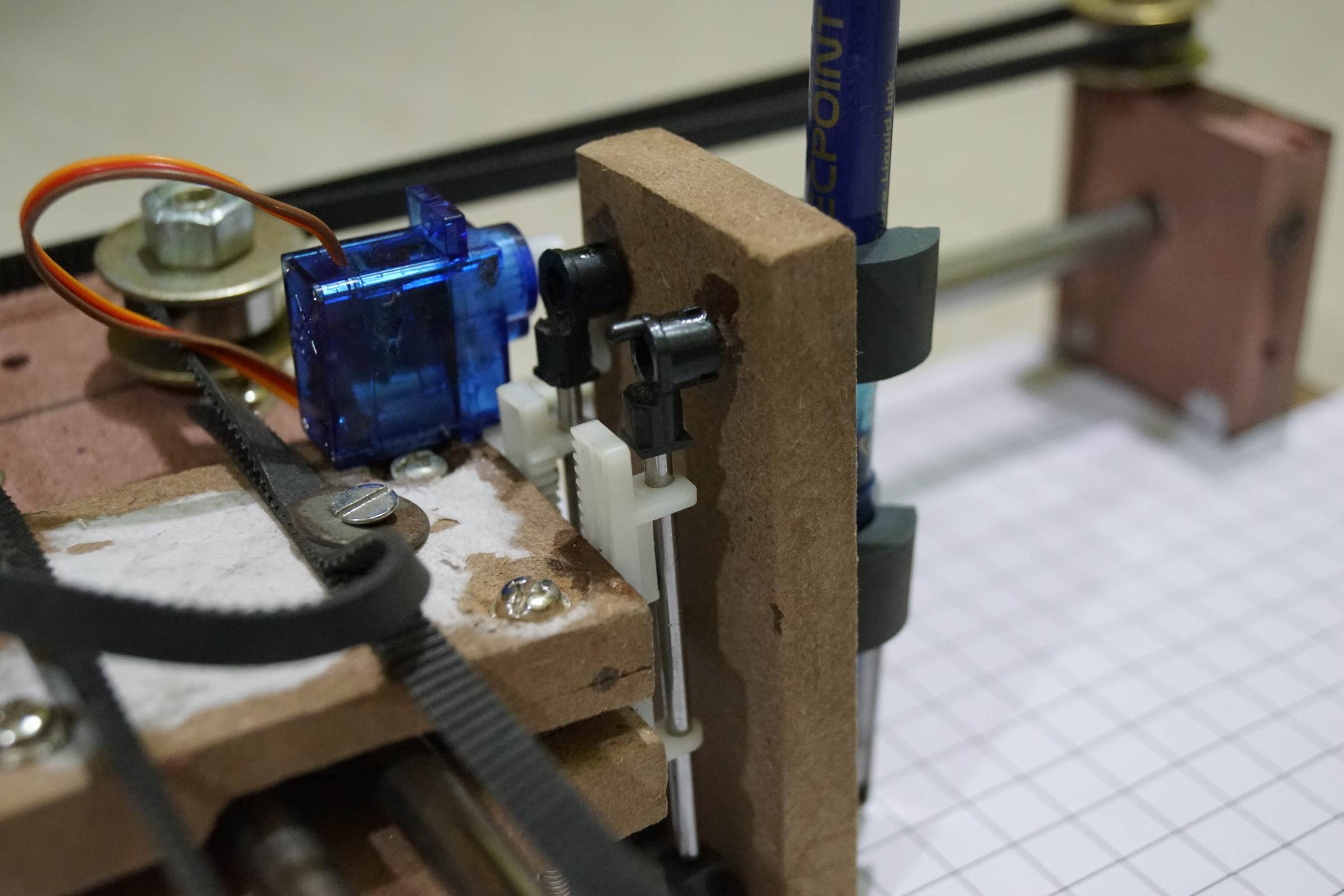 Servo Motor Attachment for Pen Lifting in Arduino Drawing Machine