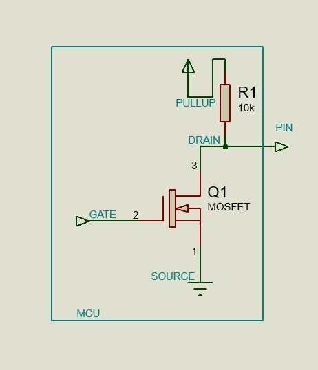 GPIO Open Drain Output with PullUp Resistor