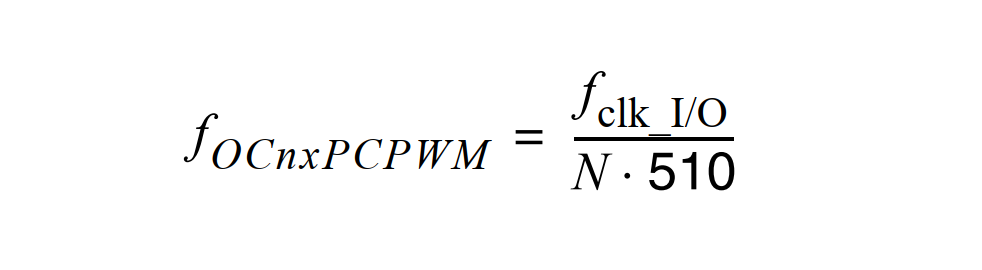 AVR Phase Correct PWM Frequency Formula