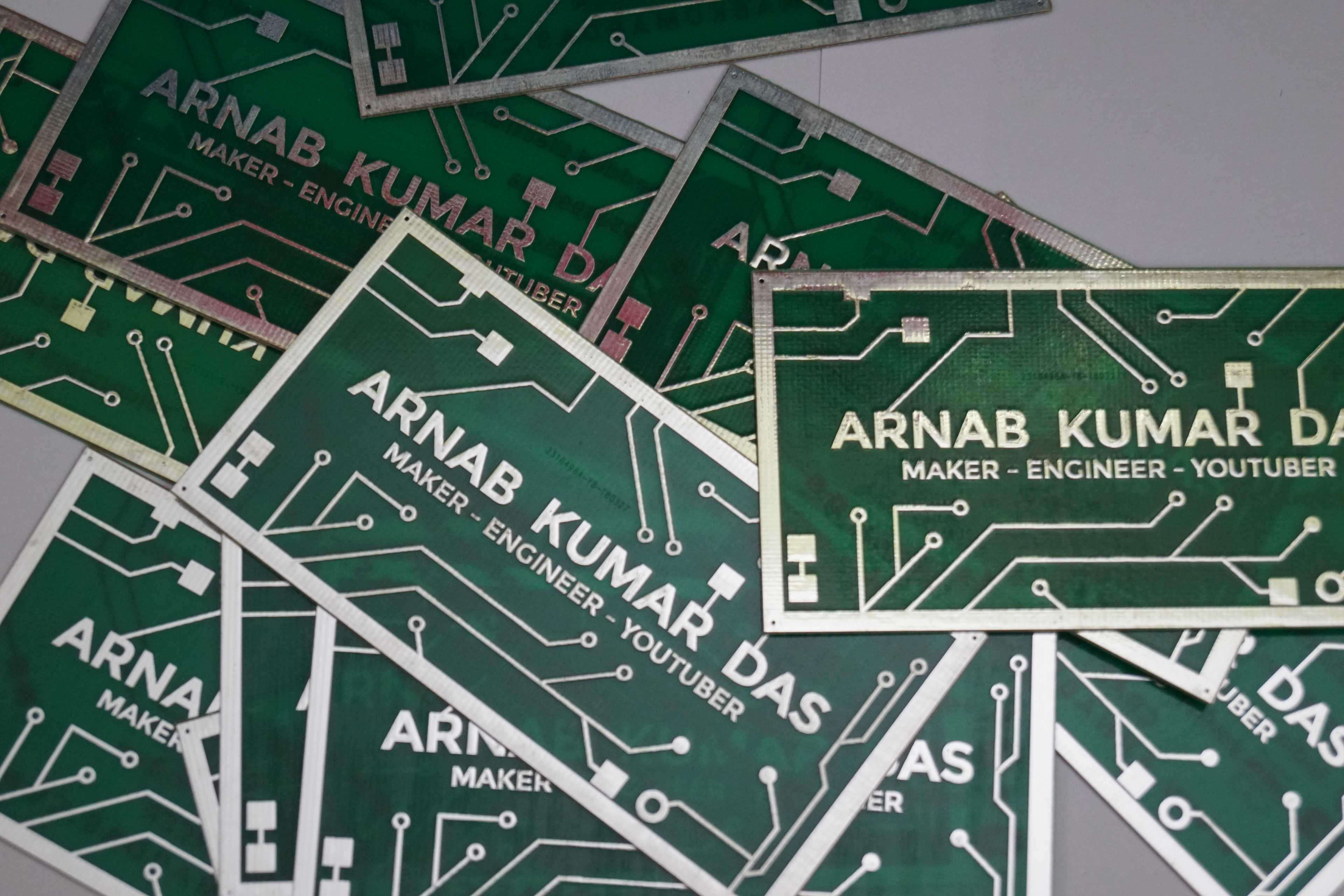 Pcb Business Card For Electrical Electronics Engineer Arnab Das Electronic Circuit Diagram Software Blog Of Kumar