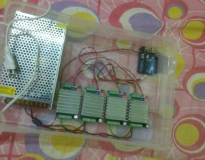 Electronics of DIY CNC Router All Put in an Box