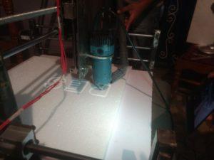 Polystyrene Engraving on DIY CNC Router
