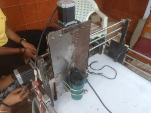 Z Axis of DIY CNC Router with Motor and Spindle / Router