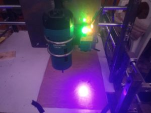 Makita Router with 2.5w Laser used in DIY CNC Router