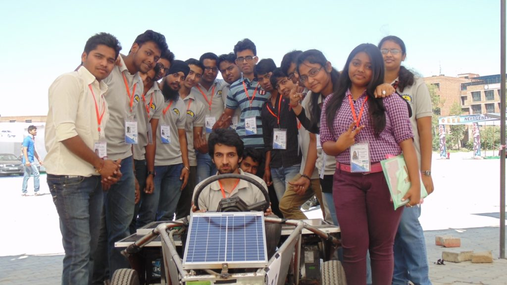 Another Team Picture of Solar Go-kart