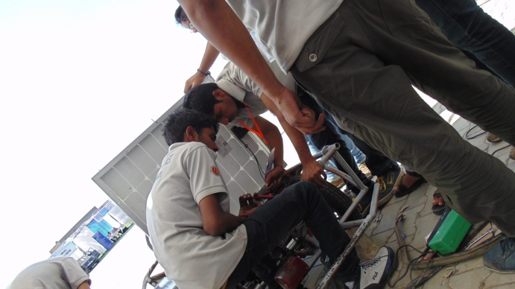 Solar Go-kart Team Solving problems during competition