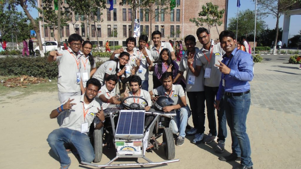 Solar Go-kart Team After Successful completion of Auto Cross