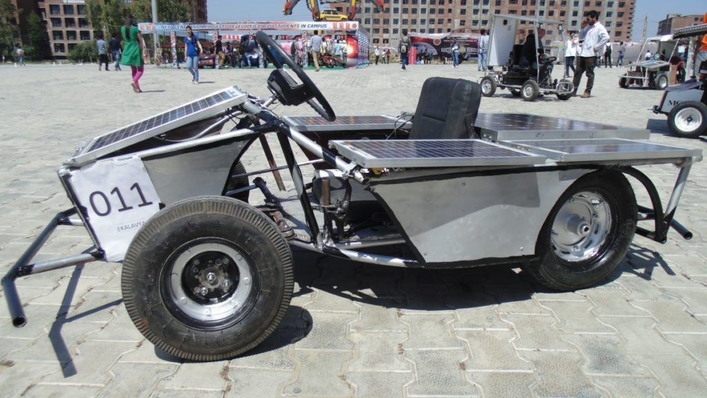 Solar Go-Kart Charging Under Solar Power