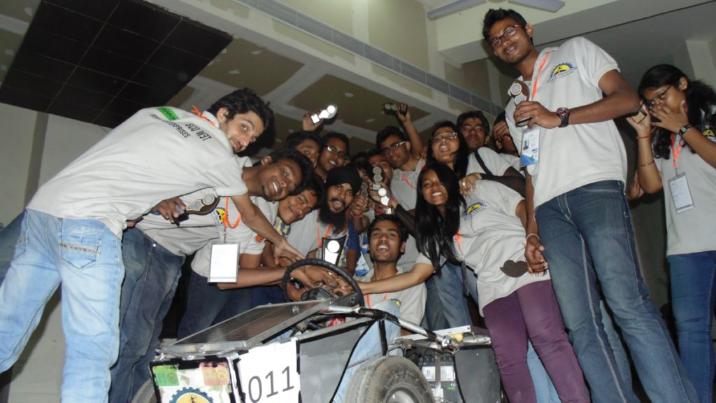 Our Maker Lab Teams Celebrating after Solar Go-kart competition