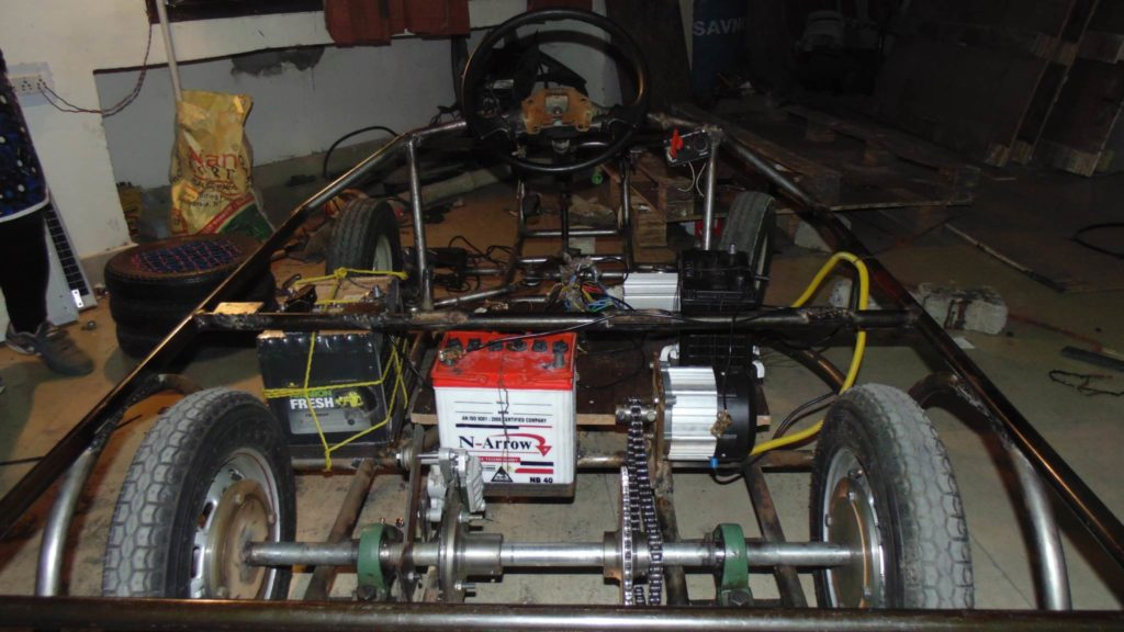 Solar Go-Kart Chassis with Some Components