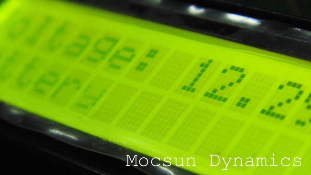 16 x 2 LCD Display for Voltmeter on Solar Go-kart