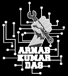 ArnabKumarDas Logo White