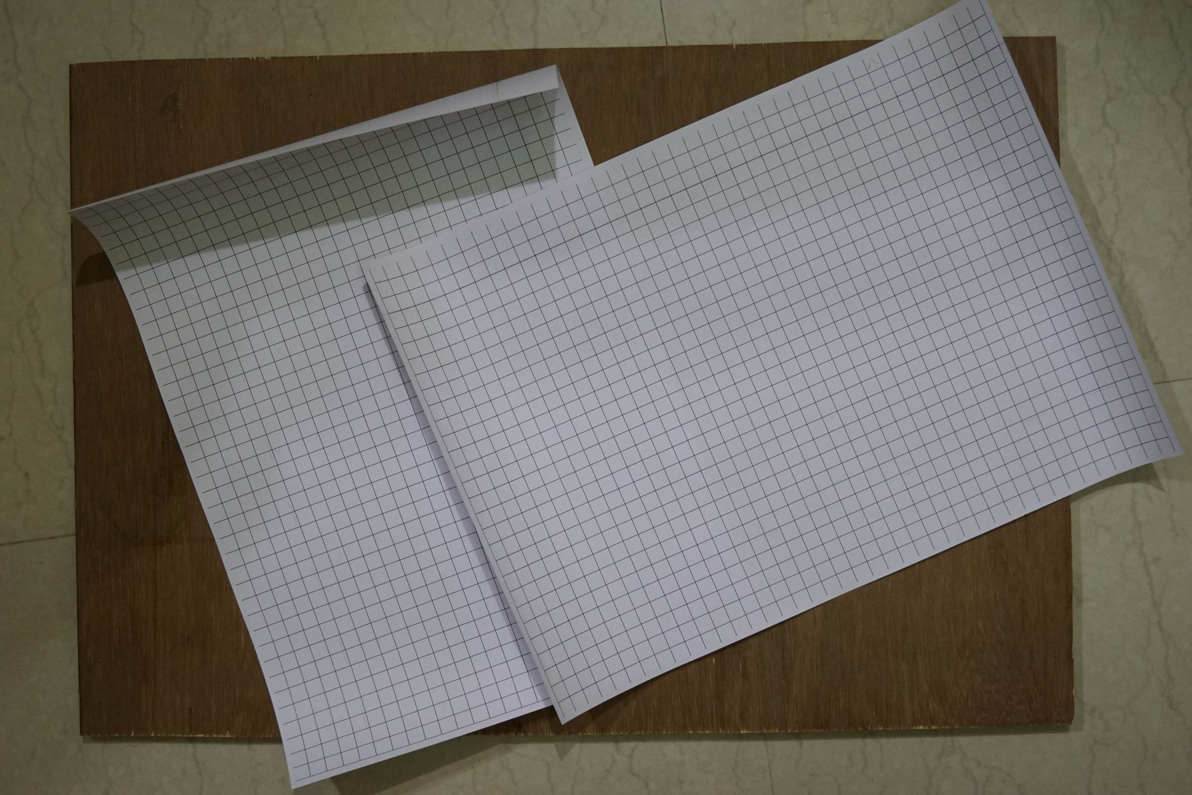 Grid Paper for pasting on Ply Wood and MDF Boards for easy cutting