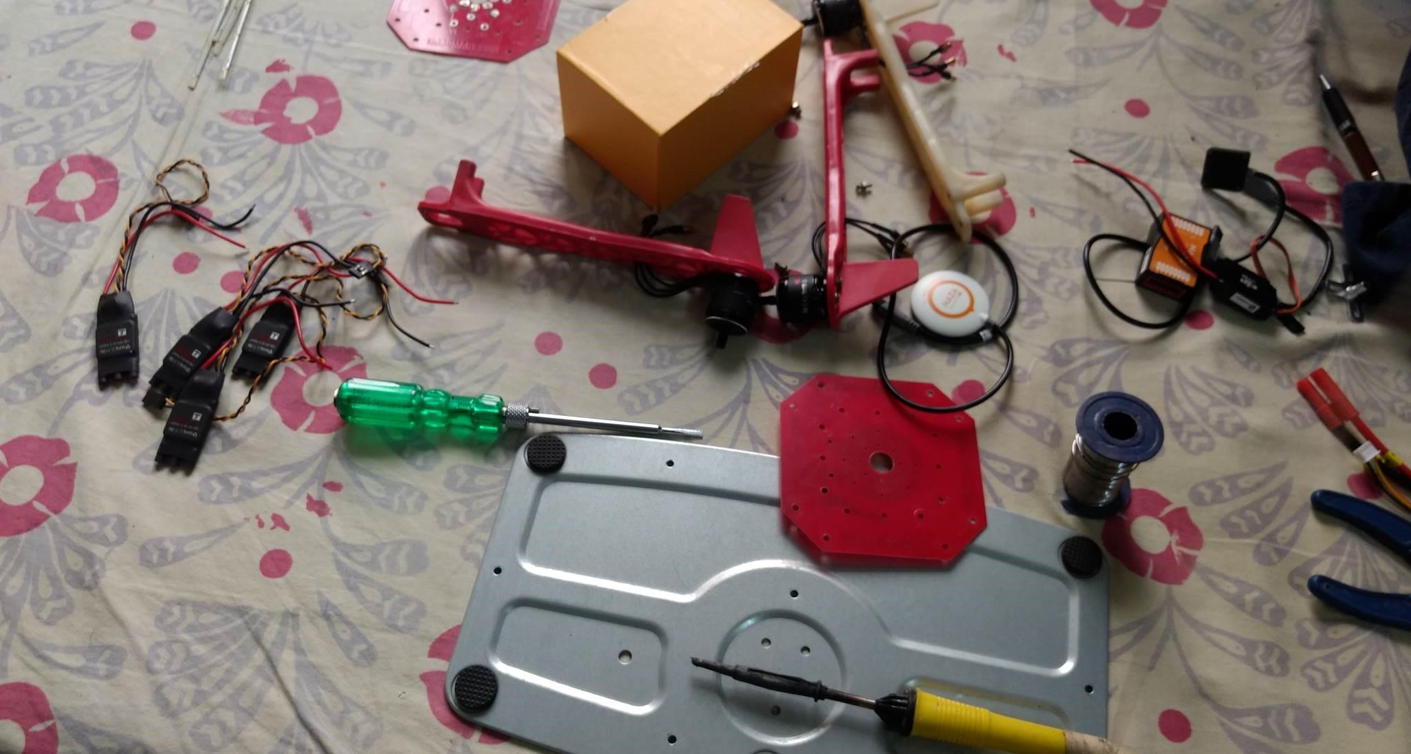 Assembling a Quadcopter Frame