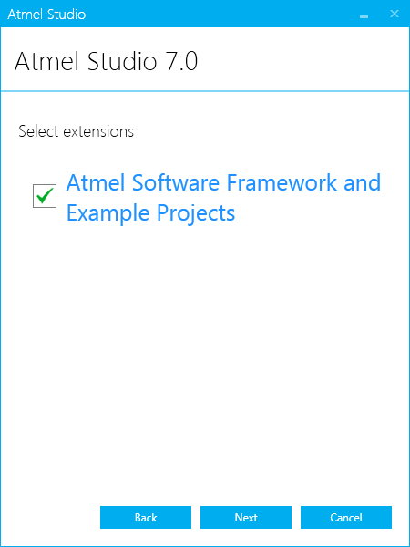Atmel Studio Example Project Selection