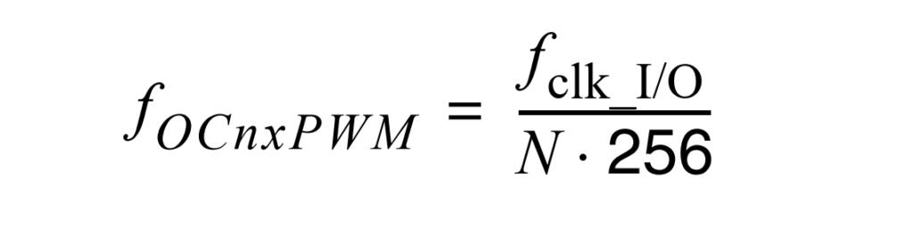 AVR Fast PWM Frequency Formula