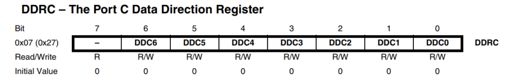 DDRC – The Port C Data Direction Register