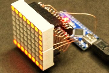 LED Matrix 8 x 8 Arduino Ciruit Sculpture