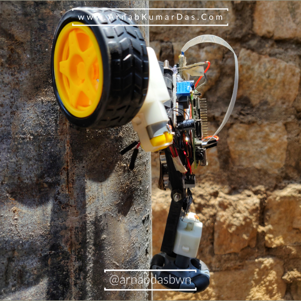 Pipe Climbing Robot Raspberry Pi Working