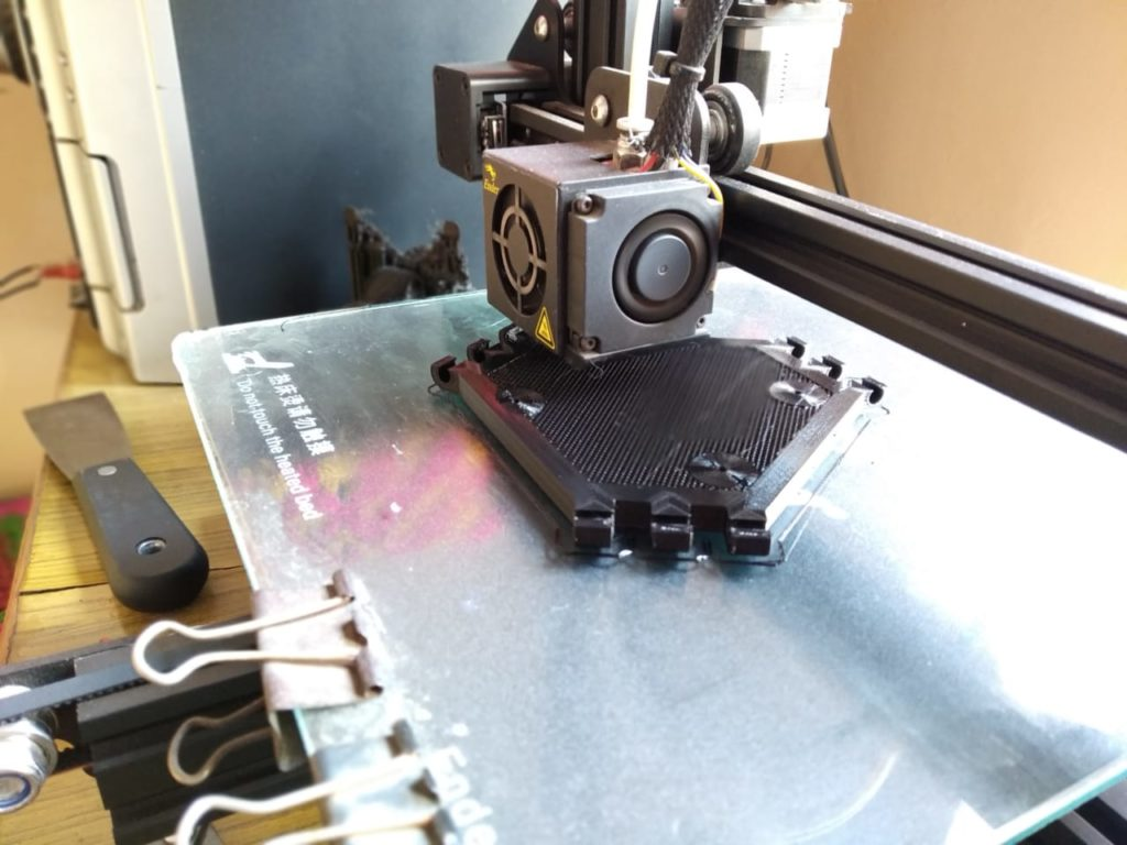 ABS 3D Printing the Center of Pipe Climbing Robot