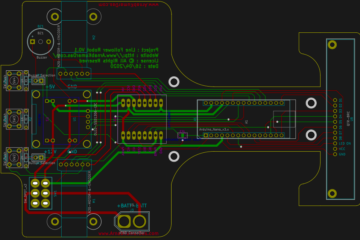 PCB Layout Line Follower Robot v0.1