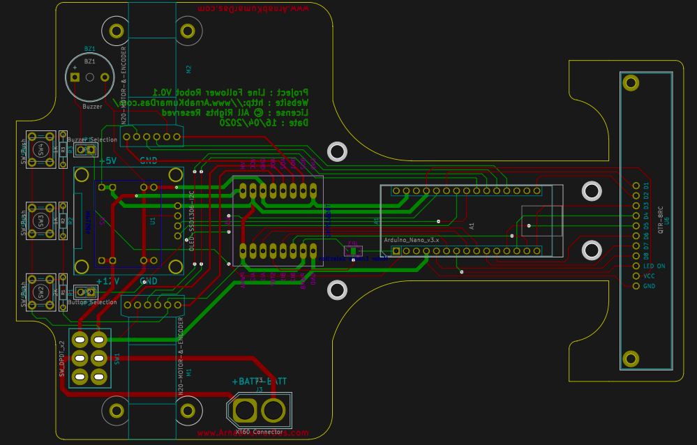 Line Follower Robot 0.1.x PCB Design and Manufacturing