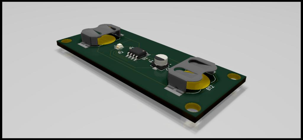 3D Render of 555 Timer LED Flasher