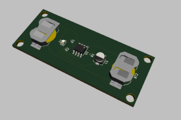 3D Render of 555 Timer LED Flasher