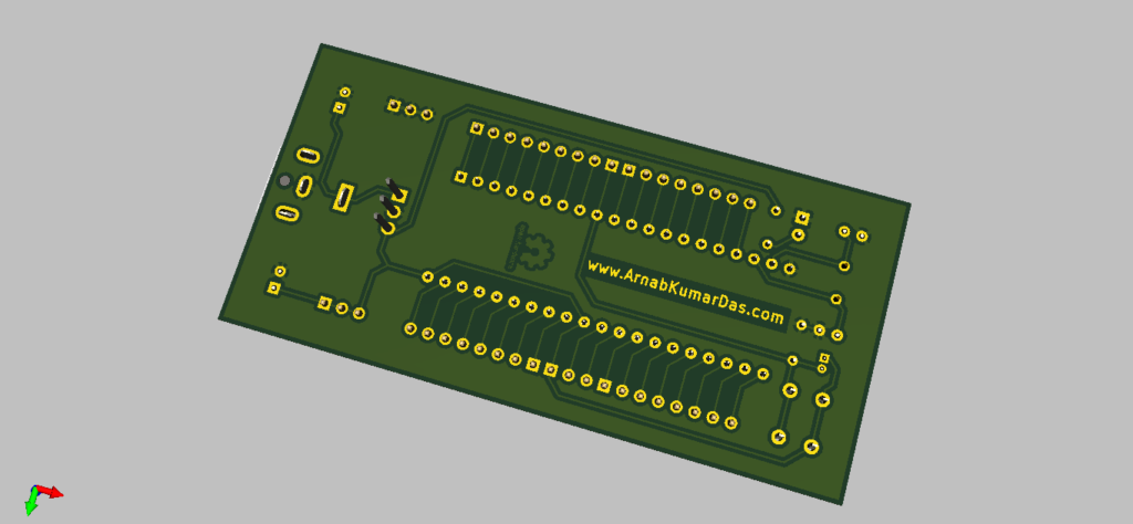 3D Render of 8051 / AT89C51 Development Board
