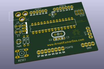 OpenGL Rendering of DIY Arduino UNO v1.0 in KiCad