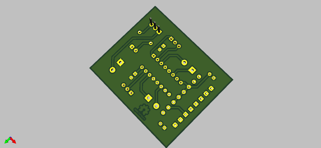 3D Render of L293D Motor Driver Board