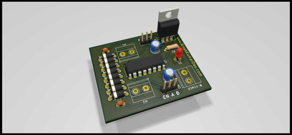 Ray Tracing Render of L293D Motor Driver Module