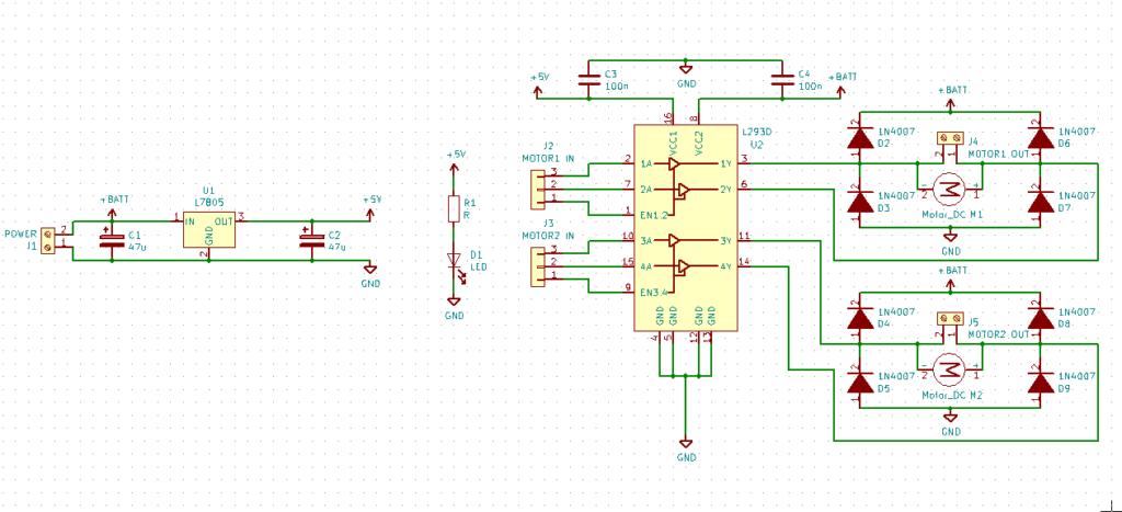 Schematic of L293D Motor Driver Module