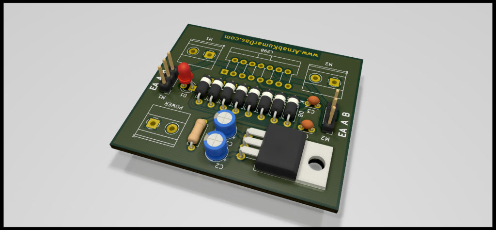 Ray Tracing Render of L298 Motor Driver Module